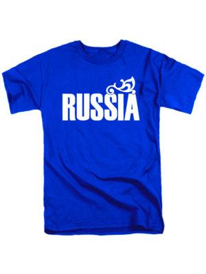 Футболка Russia мужская синяя