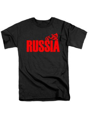 Футболка Russia мужская черная