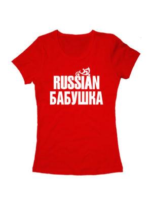 Футболка Russian бабушка красная