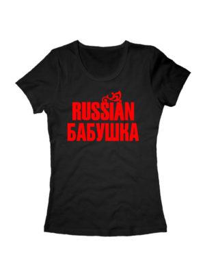 Футболка Russian бабушка черная
