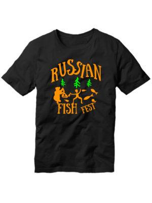 Футболка Russian fish fest черная