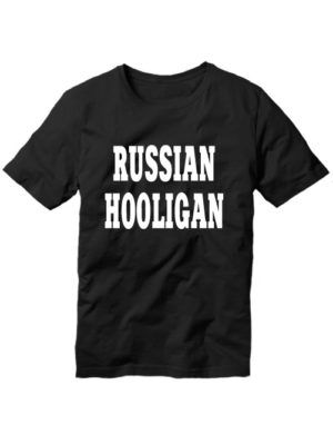 Футболка Russian hooligan черная