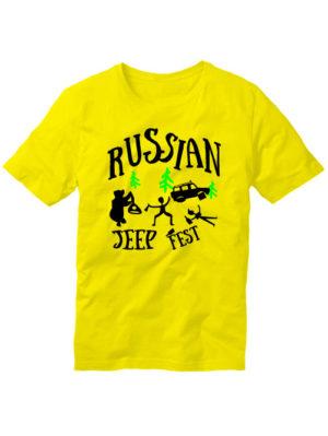 Футболка Russian jeep fest желтая