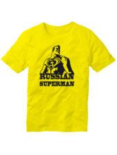 Футболка Russian superman желтая