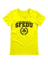 Футболка SFEDU женская желтая