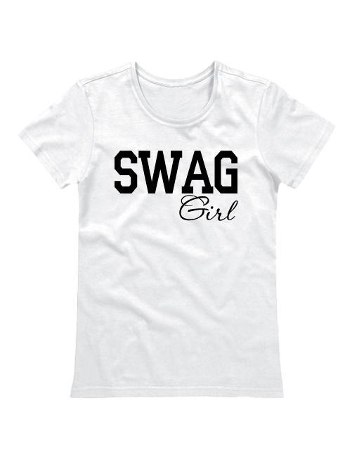 Футболка SWAG Girl белая