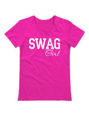 Футболка SWAG Girl розовая