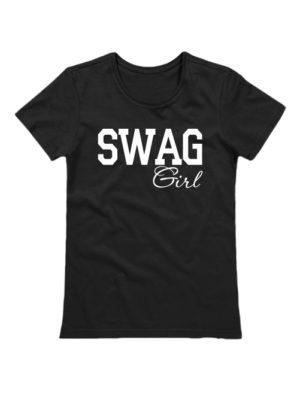 Футболка SWAG Girl черная