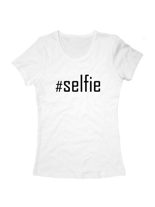 Футболка Selfie женская белая