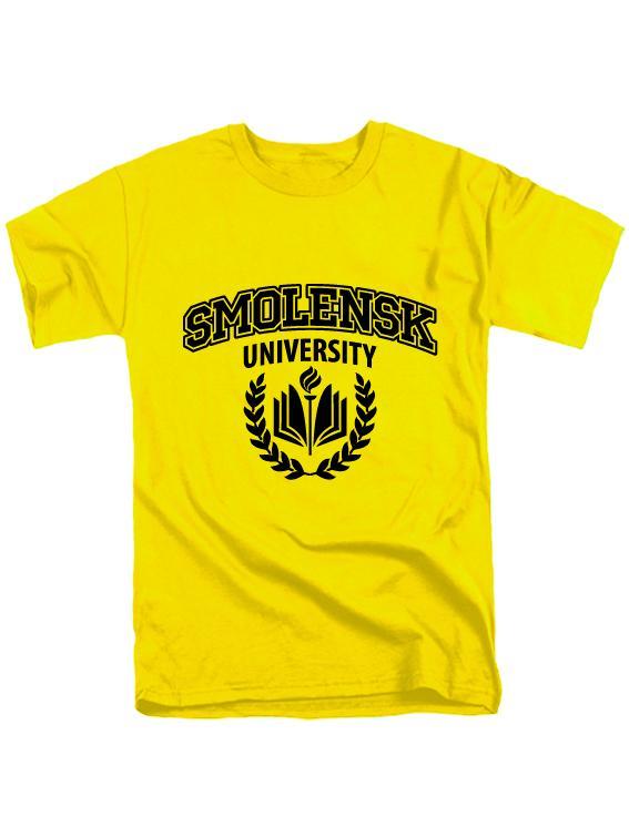 Футболка Smolensk university желтая
