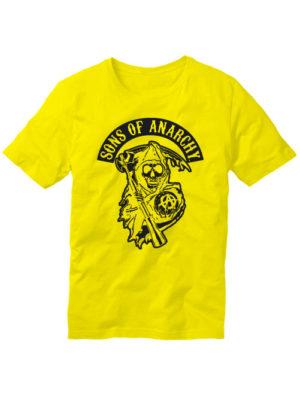 Футболка Sons of anarchy желтая