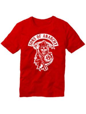 Футболка Sons of anarchy красная