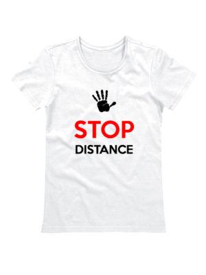 Футболка Stop Distance женская белая