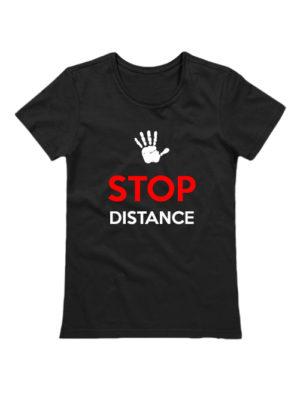 Футболка Stop Distance женская черная