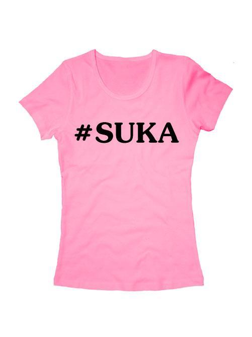Футболка Suka женская розовая