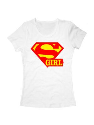 Футболка Super girl белая