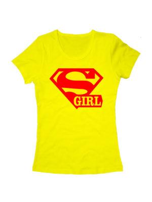 Футболка Super girl желтая