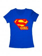 Футболка Super girl синяя