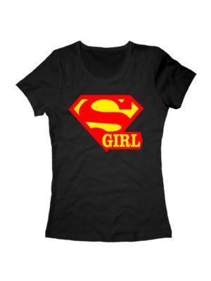 Футболка Super girl черная