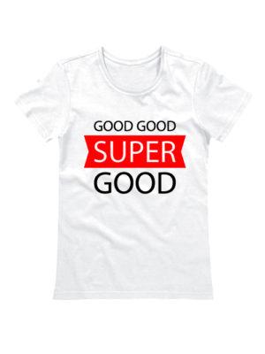 Футболка Super good белая