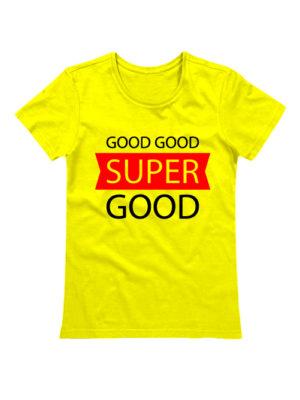 Футболка Super good желтая