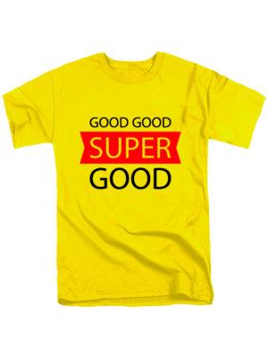 Футболка Super good мужская желтая