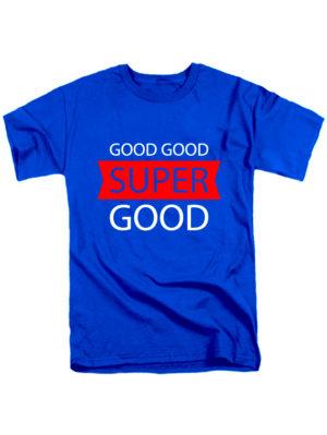 Футболка Super good мужская синяя