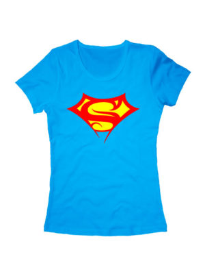 Футболка Supergirl голубая