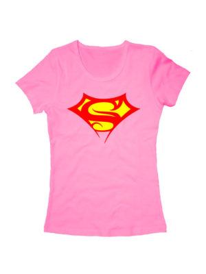 Футболка Supergirl розовая