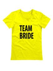 Футболка Team Bride желтая