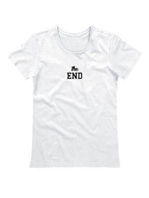 Футболка The end женская белая