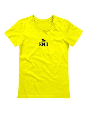 Футболка The end женская желтая