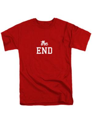 Футболка The end красная