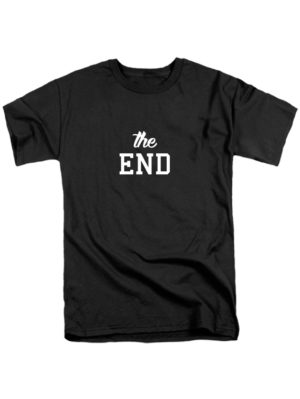 Футболка The end черная