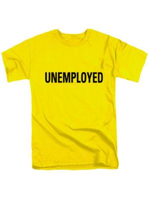 Футболка Unemployed желтая