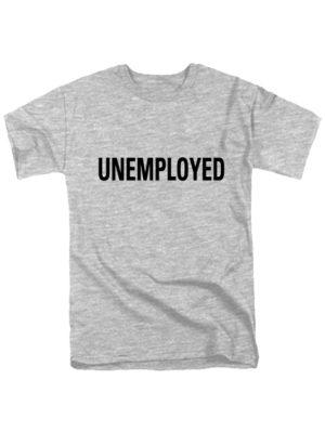 Футболка Unemployed серая