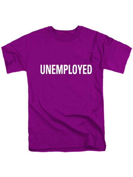 Футболка Unemployed фиолетовая