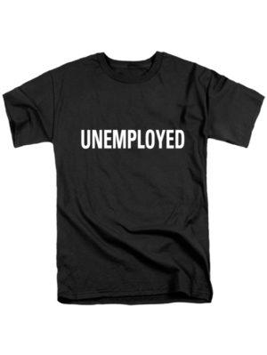 Футболка Unemployed черная