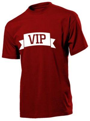 Футболка VIP мужская бордовая