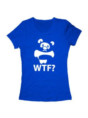 Футболка WTF Винни Пух синяя