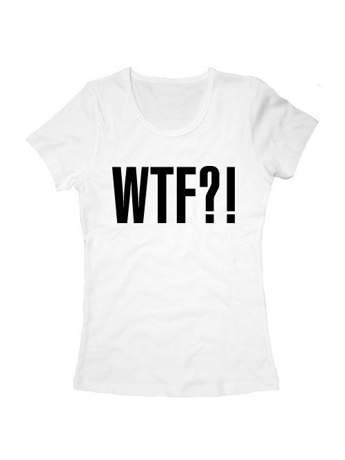 Футболка WTF женская белая