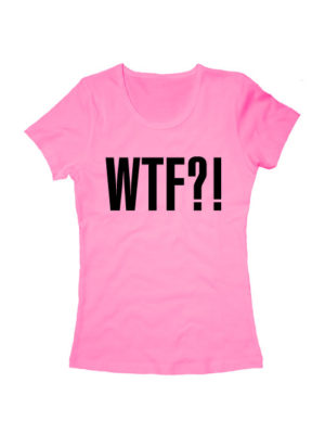 Футболка WTF женская розовая
