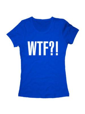 Футболка WTF женская синяя