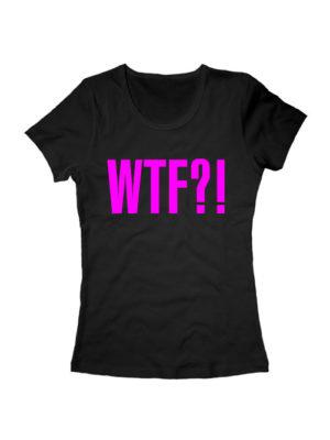 Футболка WTF женская черная