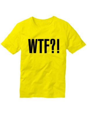 Футболка WTF желтая