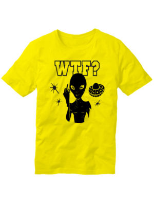 Футболка WTF ufo желтая