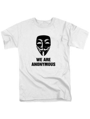 Футболка We are anonymous белая