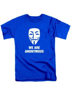 Футболка We are anonymous синяя
