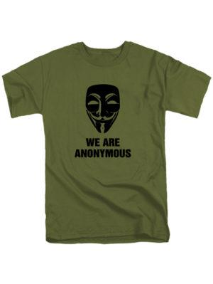 Футболка We are anonymous хаки