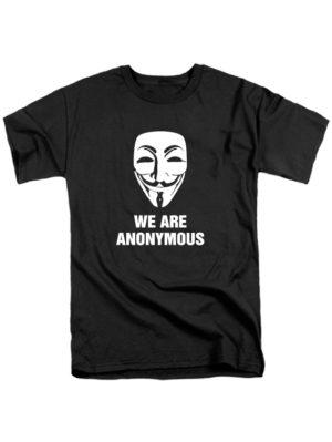 Футболка We are anonymous черная
